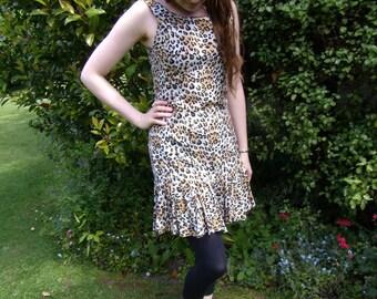 1990s Leopard Print Dress