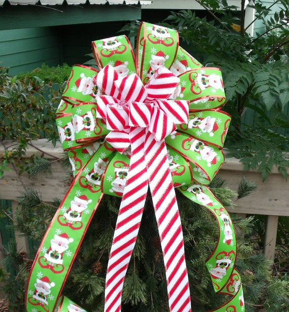 Christmas Bow Topper Treetop Bow Tree Topper Tree Bow