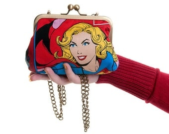 Supergirl Superhero DC Comic Evening Bag and Clutch