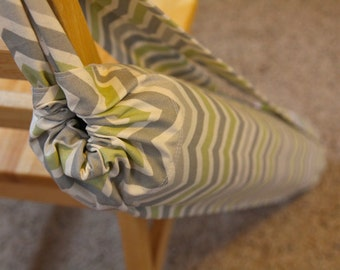Yoga Mat Bag - 2 straps Chevron Green/Grey