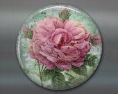 shabby chic magnet, rose decor, floral fridge magnet, kitchen decor, large fridge magnet, shaby chic decor MA-304