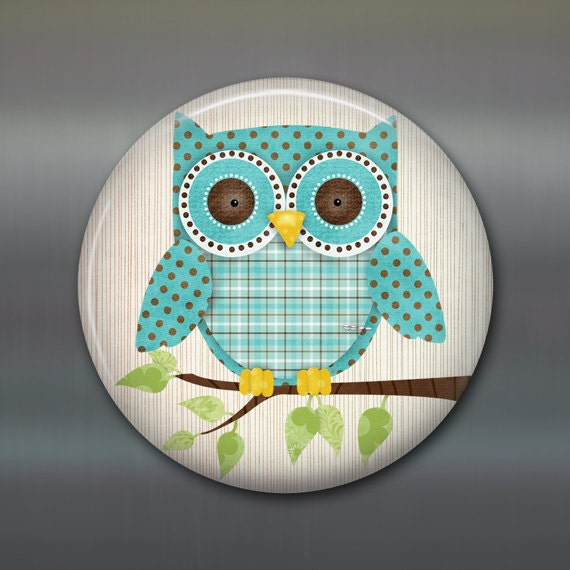 Items Similar To Cute Owl Fridge Magnet Owl Decor