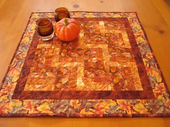 Rustic Leaves Fall Table Topper, Home & Living