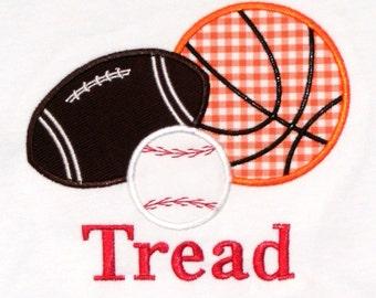 Sports Balls Combo 1 FBB Applique Design Machine Embroidery Design INSTANT DOWNLOAD