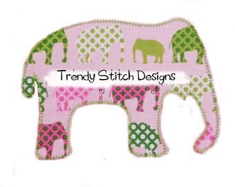 Elephant Applique Design Applique Machine Embroidery Design INSTANT DOWNLOAD