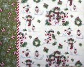 Placemats - Snowman and Candy Canes (Set of 4), Reversible