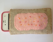 Felt ipod or iphone pouch. Homemade poptart