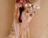 Romantic French Vintage Style Christmas Stocking