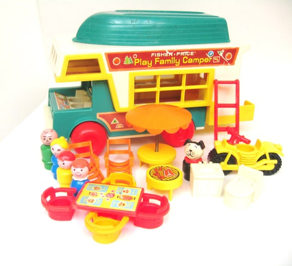 RESERVED Vintage Fisher Price 994 Camper - Complete plus Bonus Pieces