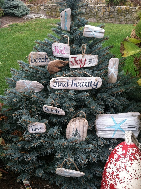 Items similar to custom hand painted rustic driftwood tree for Beachy decor items
