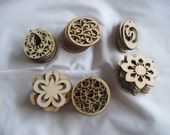 Unfinished Wood Pendant Shapes/beads Pack of 72