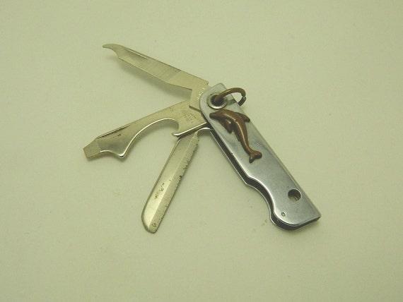 Vintage Bassett Pocket Knife Multi Tool Knife Patent