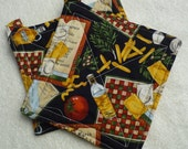 Hot Pads with assorted Food Items,unique gifts, kitchen accessory,quilted trivet,insulated fabric, cooking accessory, kitchen items, 17