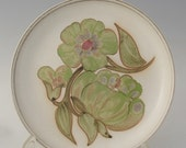 Denby Langley England hand painted dinner plate Troubadour pattern