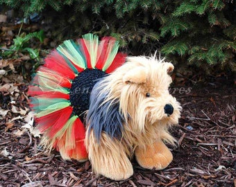Classic Christmas Dog Tutu - Fits Dogs 13 To 23 Inches Around