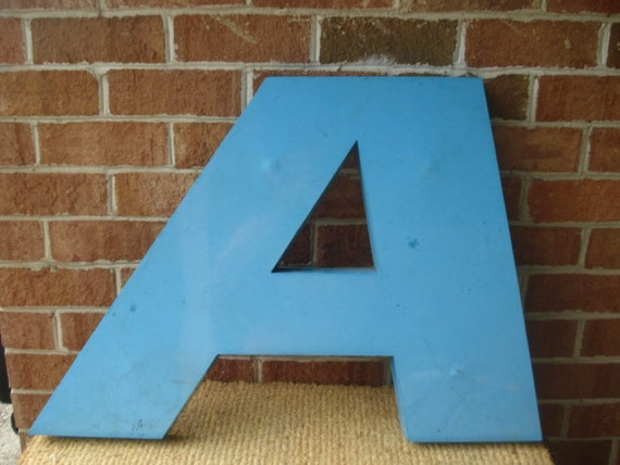 Vintage Very Large Advertising Letter A from Amoco Sign