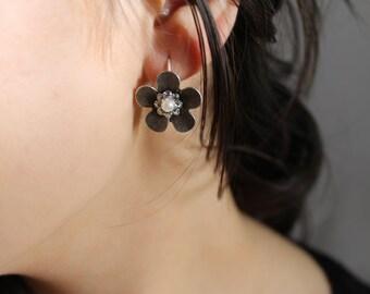 Pearl and Austrian Crystal Earrings,