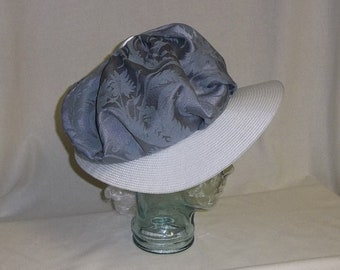SALE! 25% OFF- Periwinkle and White Bonnet, Decorate-Your-Own