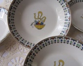 Vintage Johnson Bros Berry Bowls Set of Five - Bright and Cheery
