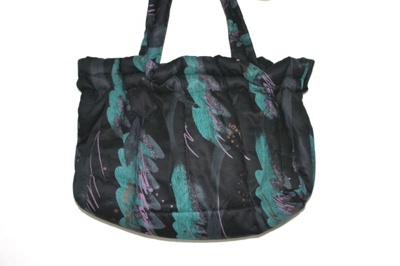 RESERVED Totally Rad Oversized Vintage Late 80's Early 90s Artsy Bag