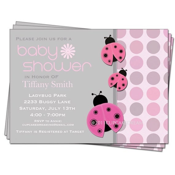 Ladybug Baby Shower Invitation absolutely amazing ideas for your invitation example