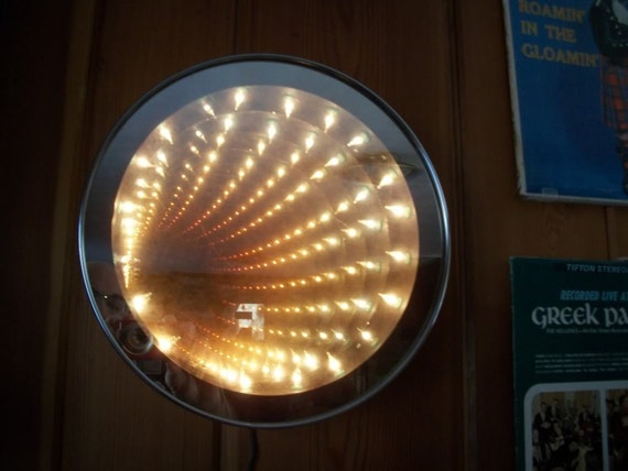 1970s Vintage Retro Disco Infinity Mirror Tunnel Light