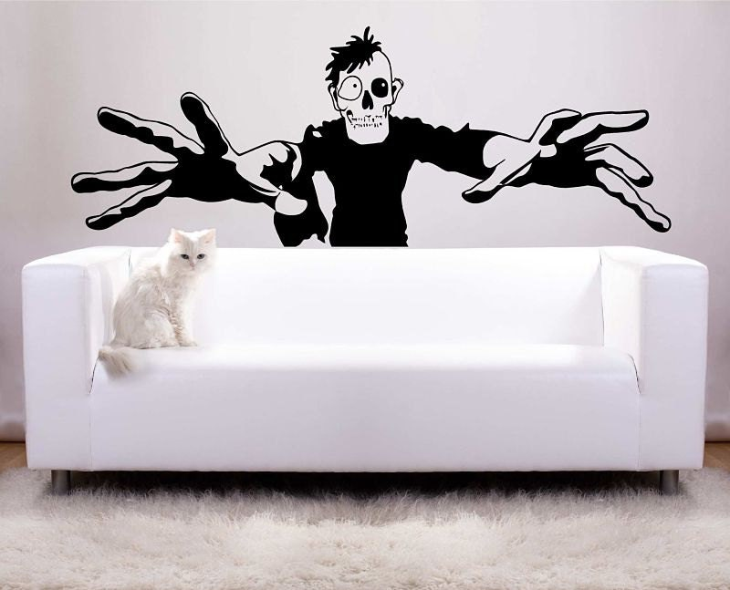 Huge Zombie Halloween Decoration Vinyl Wall Decal Photo