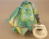 Pacifier Pyramid/Coin Purse/Jewelry Bag/Small Item/Gift Pouch/Knitting Notions/Bridesmaid Gift Triangle Pod Pouch