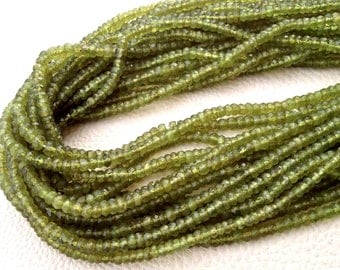 Brand New, VESUVIANITE Faceted Rondelles,Full 14 Inch Strand, 4mm size,Amazing Quality Wholesale Price.