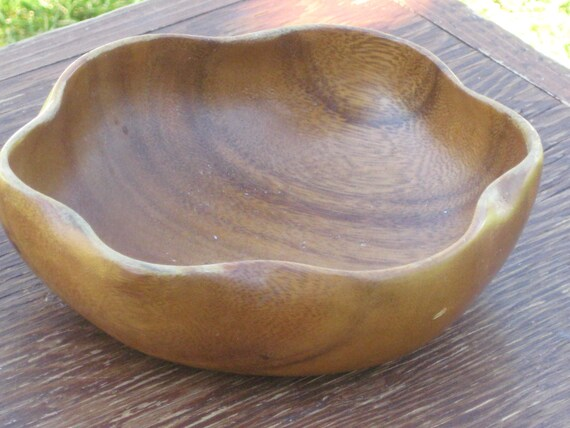 RESERVED For Squirrel - Vintage Wooden Bowl, Lightweight, Walnut Wood, One serving bowl