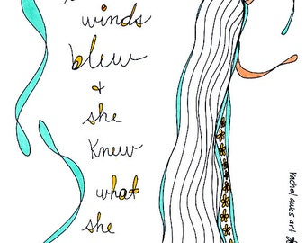 winds blew. colorful print. by rachel awes.