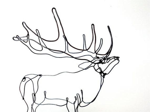 Elk Wire Sculpture