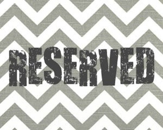 Reserved Listing for Autumn