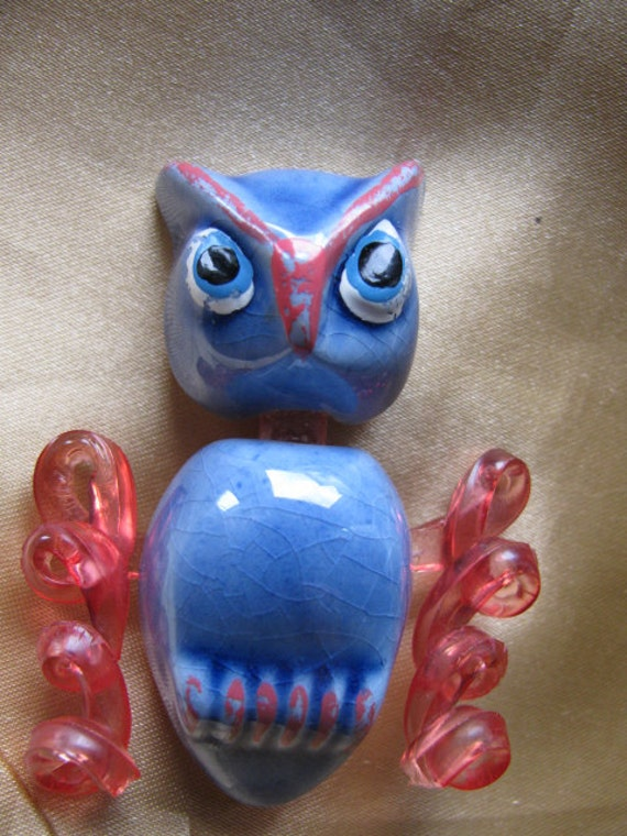Rare Elzac of California Figural Owl Brooch