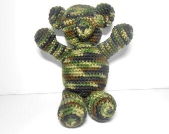 Camouflage Crocheted Bear