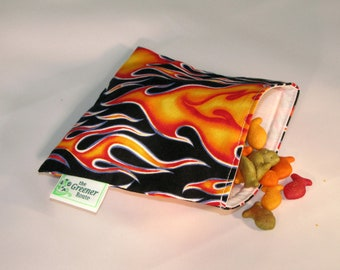 Reusable  Snack Bag - Flames