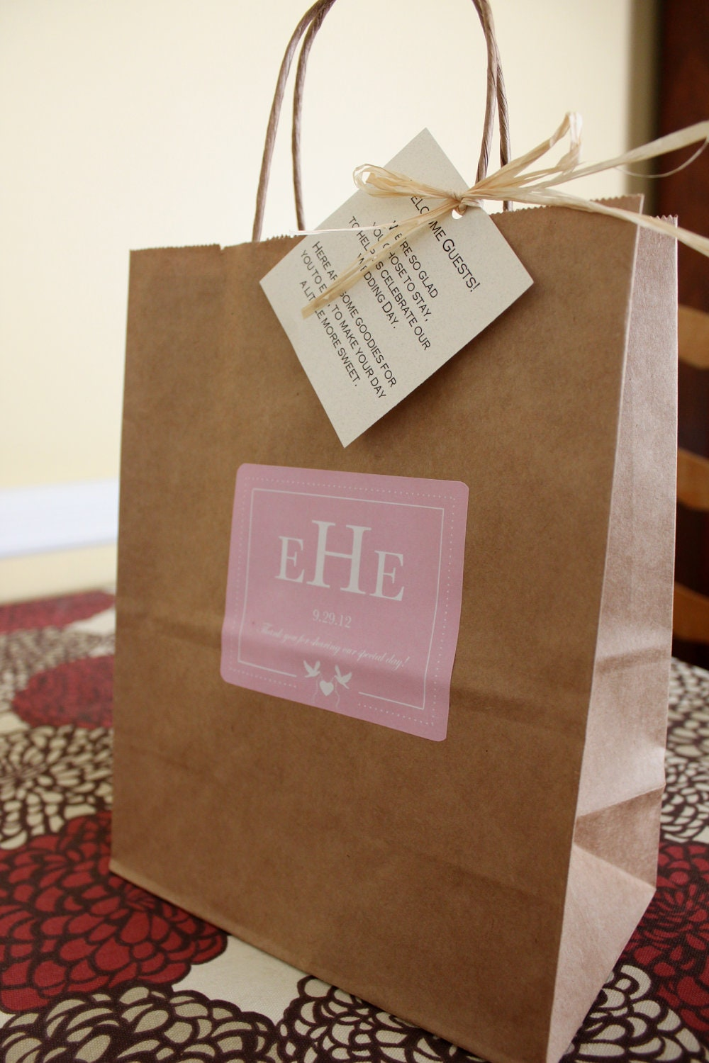 Wedding Gift Bags Out Of Town Guests : Wedding Welcome Bags Out Of Town Guest Bags Love Birds and