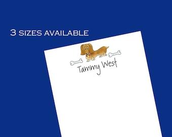 Personalized Dachshund Dog Notepads - Dachshund gift ~ 3 sizes