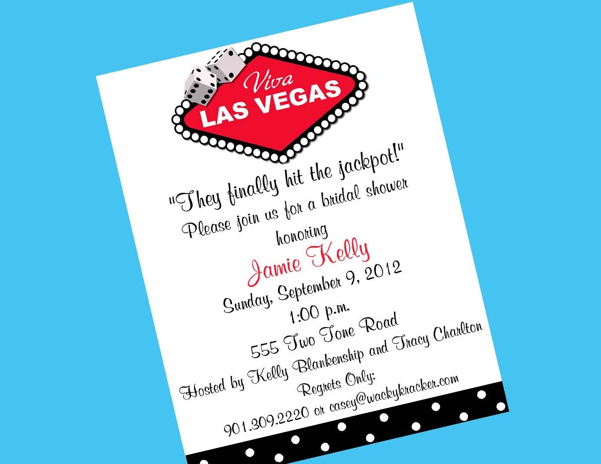 Las Vegas Wedding Invitation Wording: Las Vegas Invitation Printable Bridal Shower By Wackykracker