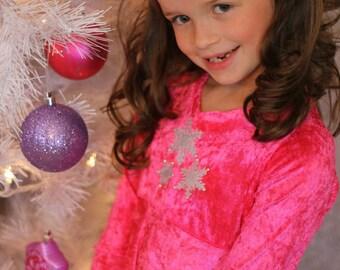Winter Twirl Girl dress PDF pattern Size 4 - Size 12