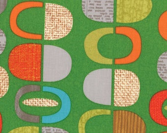 Green Print from the Mod Century Collection, by Moda