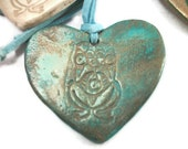 Patina Heart Necklace