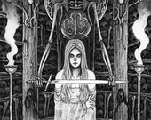 The sword - Ink drawing