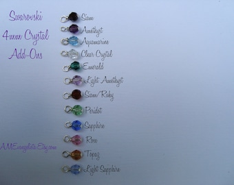 Swarovski Faceted Round 4mm Crystal Add-ons