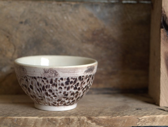 Small Rustic Porcelain Bowl