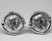 Tiberius Caesar Cufflinks in solid sterling silver Free Shipping