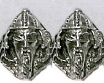 Mongolion Cufflinks in solid sterling silver Free Domestic Shipping