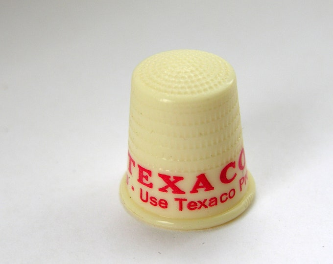 Vintage Texaco Advertising Thimble Petroliana Red White