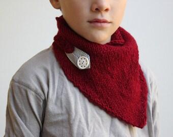 Direct Download PDF Knitting Pattern - Kids Scarf Pattern - Beginner Knitting Pattern
