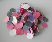 GIRLY CIRCLES reusable felt circle garland in Pink, Grey & White - party / birthday / nursery decoration - 11 ft long (ready to ship)